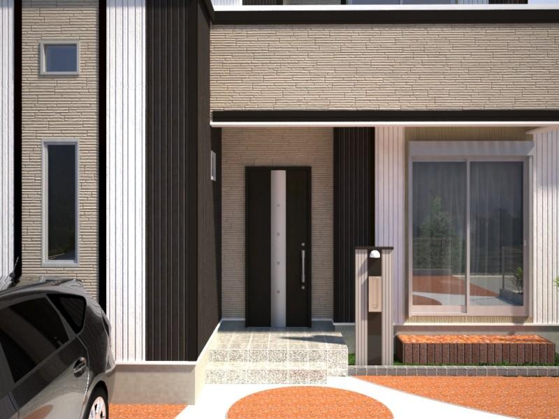 富士市富士岡新築建売住宅外観玄関イメージ
